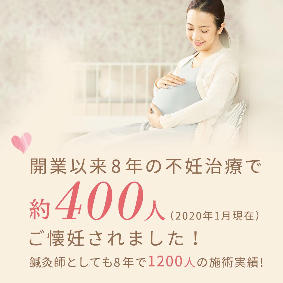 不妊鍼灸は開業以来約400人ご懐妊されました